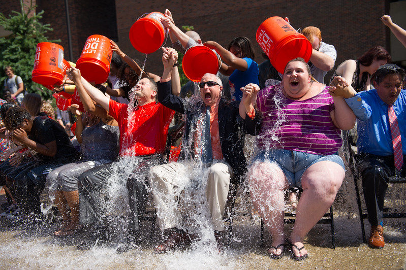 ALS Ice Bucket Challenge at SUNY Buffalo State.