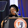 President Katherine Conway-Turner speaking at the 2pm Undergraduate Commencement at SUNY Buffalo State.