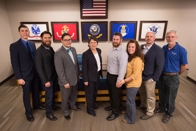 Ribbon cutting for Student Veterans of America Lounge at Buffalo State College.