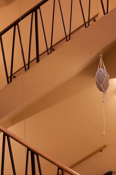 Fine Arts student  installation in Upton Hall.