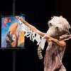 """""""Elle"""" theatreFiguren performance by Michele Costa during day-two of the Anne Frank Project at SUNY Buffalo State."""