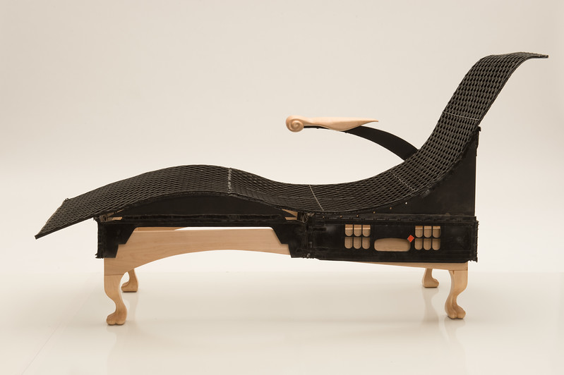 Chair created by Wood Design student Adam Ianni at Buffalo State College.