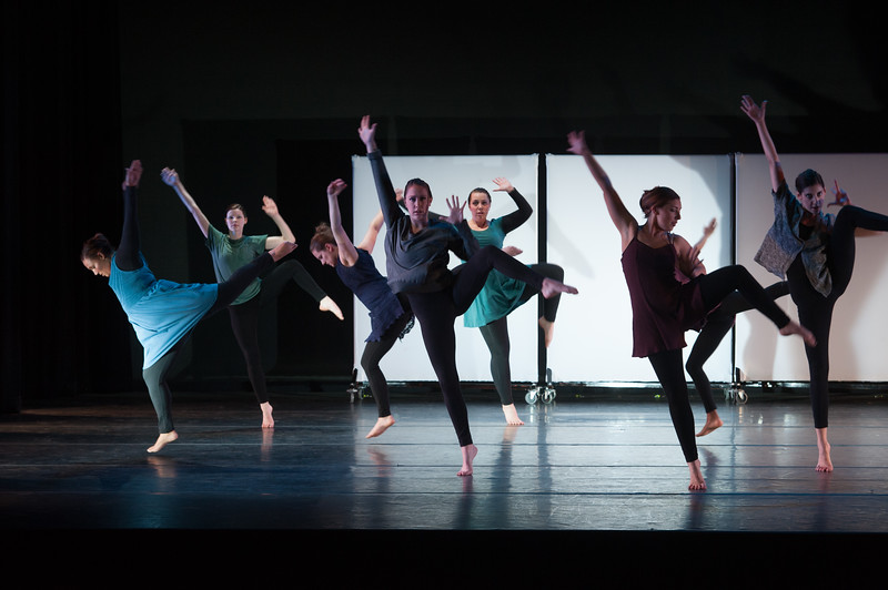 """Student dance concert """"Blue Prints"""" at SUNY Buffalo State."""