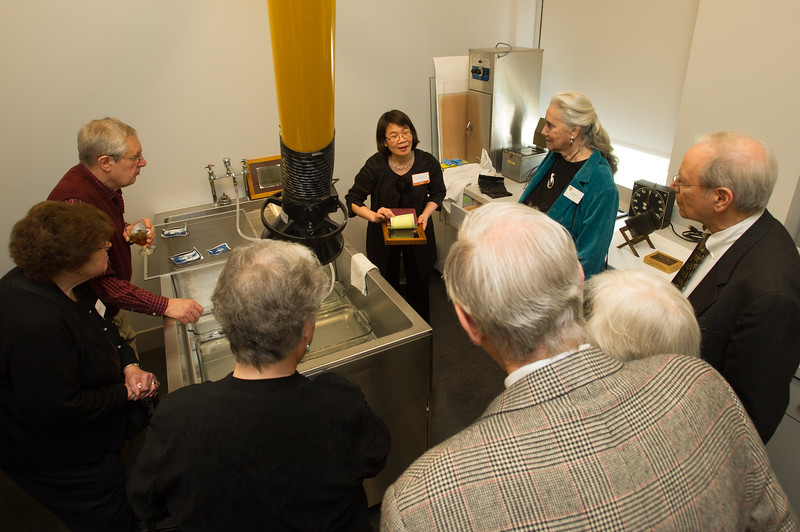 Kontos darkroom naming ceremony in Art Conservation at SUNY Buffalo State.