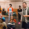 Play rehearsal for AFP Rwanda study abroad  students at Buffalo State College.
