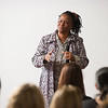 Education and women's rights activist, Tererai Trent speaking at Buffalo State College.