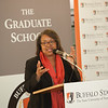 President Katherine Conway-Turner speaking at the Graduate Thesis Awards reception at SUNY Buffalo State.