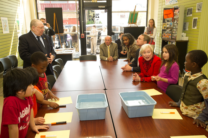 SUNY Chancellor Nancy Zimpher visiting Buffalo State's Community Academic Center.