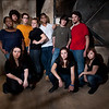 "Publicity photo for Buffalo State College student theater production of ""Working""."