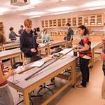 Students working in Physics 510 classroom at SUNY Buffalo State.