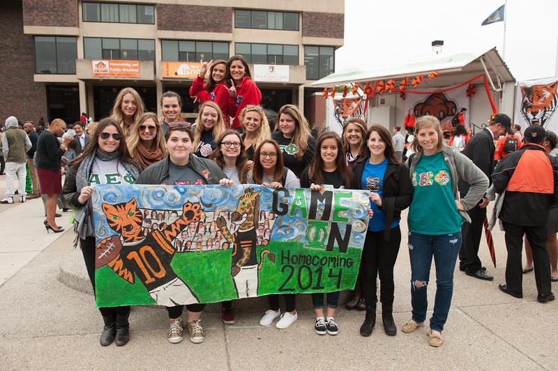 Homecoming Pep Rally at SUNY Buffalo State.