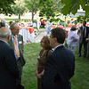 Faculty and staff Donor Day celebration on front lawn of Rockwell Hall.
