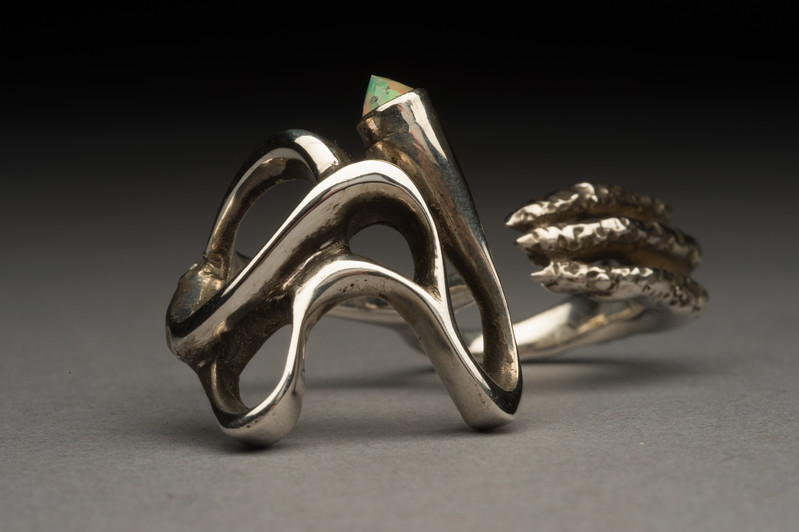 Jewelry created by Jewelry Design student Gara Helm at Buffalo State College.