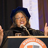 President Katherine Conway-Turner speaking at the 10am Undergraduate Commencement at SUNY Buffalo State.
