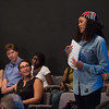 "Production of the play,""Mirror/Mirror""during day-one of the Anne Frank Project at SUNY Buffalo State. Play was written and produced by AFP students who traveled to Rwanda in January 2015."