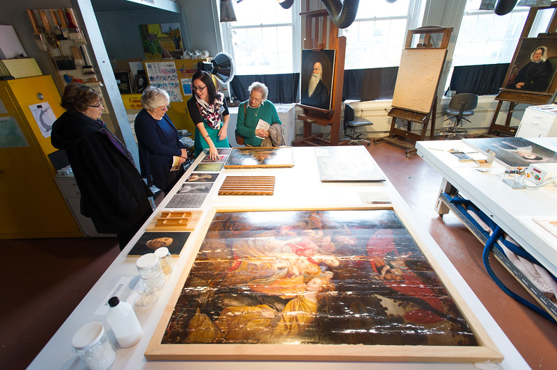 Art Conservation open house at SUNY Buffalo State.