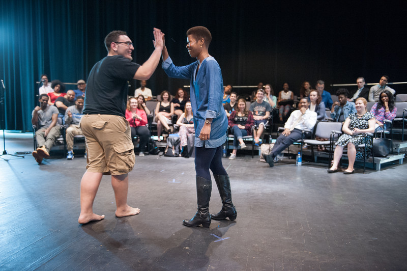Theater master class with Roslyn Ruff at SUNY Buffalo State.