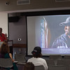 """""""Out of Darkness"""" presentation by Gary Wolfe during day-three of the Anne Frank Project at SUNY Buffalo State."""