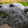 Bengal sculpture at Buffalo State College.