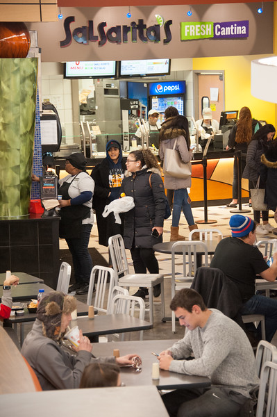 Retail dining cafeteria in Campbell Student Union at Buffalo State College.