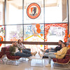 Students in Campbell Student Union at Buffalo State  College.