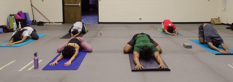 Weigel Wellness Center free yoga class for students at SUNY Buffalo State College.