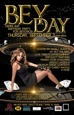 BEY DAY: Tampa Bay Birthday Party for Beyonce