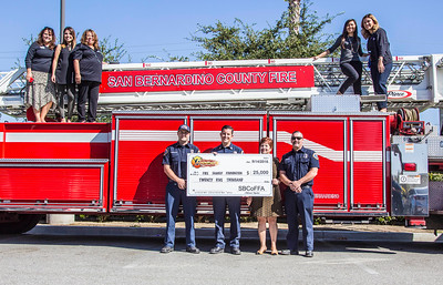 Sbcoffa Check Presentation To Firefighters First Credit Union Sbcofd
