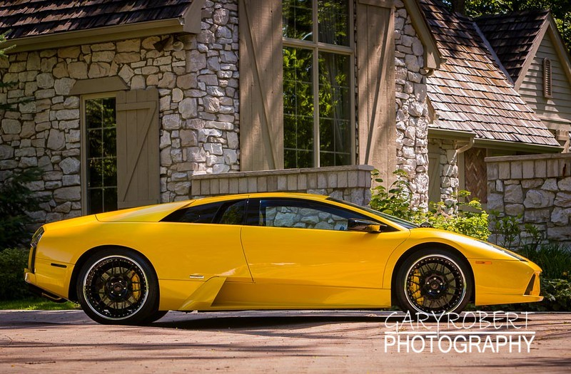 Yellow Lamborghini Murcielago