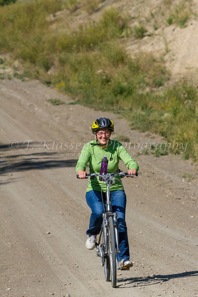 Head for the Hills bicycle event, a fundraising cyclothon through the Pembina Hills for the Eden Foundation held on September 7, 2013.