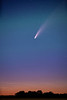 The Neowise Comet in the night sky near Winkler, Manitoba, Canada.
