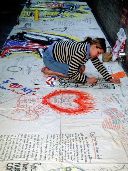 Across New York City residents share their emotions through sidewalk art