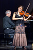 Rosemary Siemens and Loren Hiebert at the their second CD launch concert on November 12, 2005 at the Buhler Hall in Gretna, Manitoba, Canada.