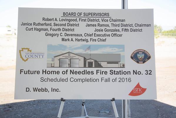 Needles Station 32 Groundbreaking, Nov. 2015