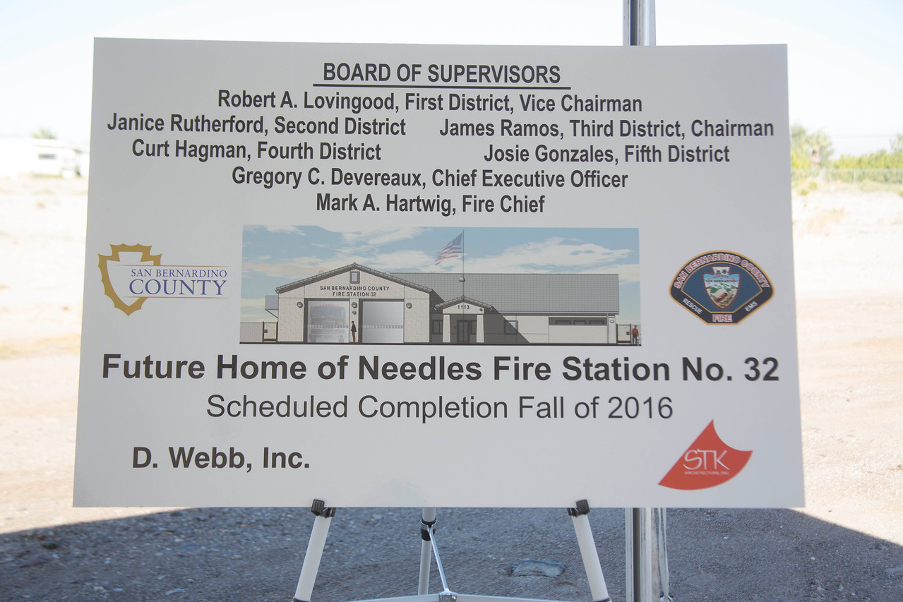 Needles Station 32 Groundbreaking