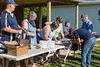 Registration prior to the Eden Foundation 2013 Tractor Trek through the prairie landscape of southern Manitoba south of Winkler.