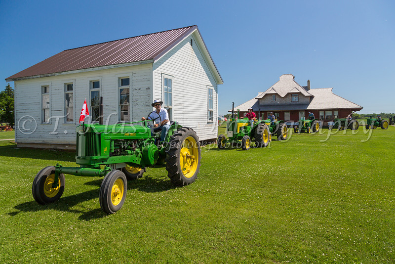 The Eden Foundation 2013 Tractor Trek through the prairie landscape of southern Manitoba south of Winkler.