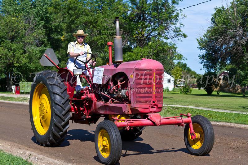 The 2012 Tractor Trek fund raising event for the Eden Foundation at Reinland, Manitoba, Canada.