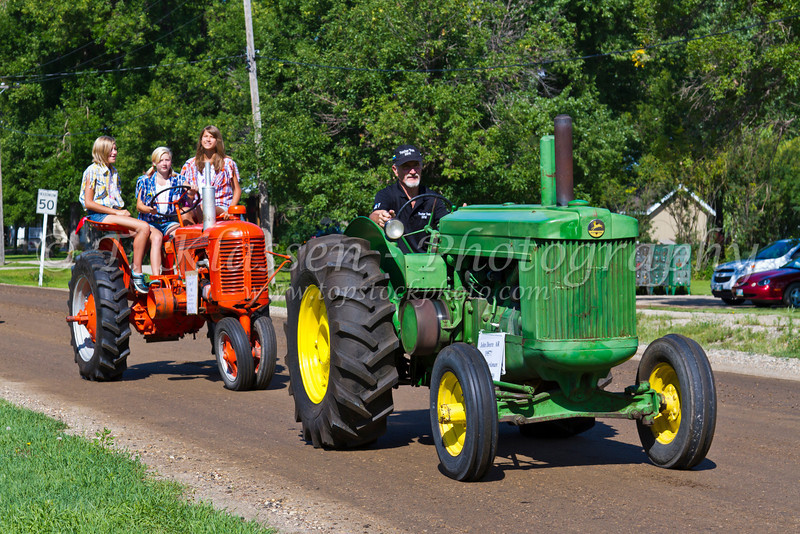The 2012 Tractor Trek fund raising event for the Eden Foundation at Reinland, Manitoba, Canada.