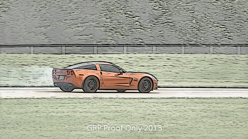 Digital Sketch, High Speed 1/2 mile runs at the Chicago WannaGOFAST.com event at the Bult Field Airport in Monee, IL 2013