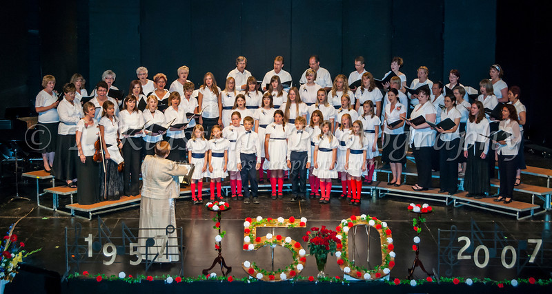 The 50th anniversary concert of the Winnipeg Mennonite Children's Choir in Winnipeg, Manitoba, Canada.