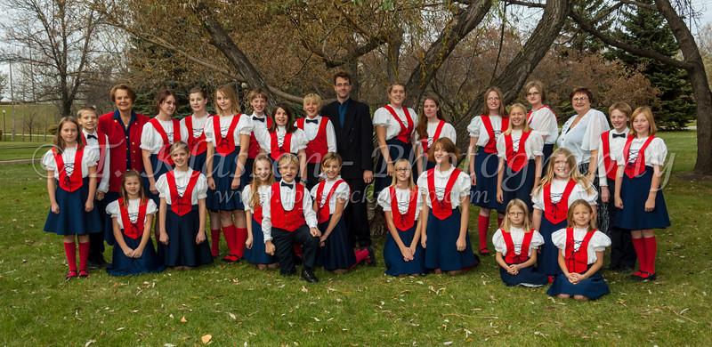 The Winnipeg Mennonite Children's Choir group photo in Winnipeg, Manitoba, Canada.