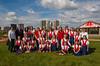 The Winnipeg Mennonite Children's Choir group photo at The  Forks in Winnipeg, Manitoba, Canada.