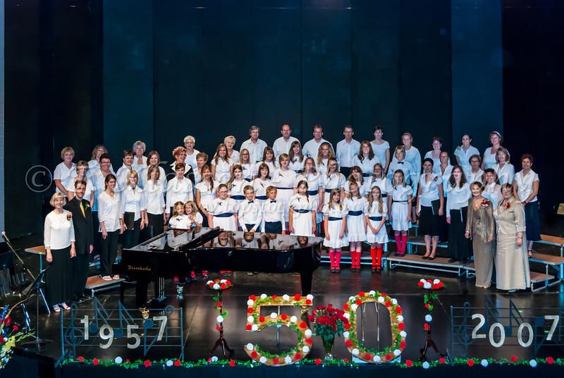 The Winnipeg Mennnonite Children's Choir 50th Anniversary celebration concert at the MBCI Jubilee Place auditorium on June 22, 23, 2007 in Winnipeg, Manitoba, Canada.