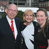 Mint Board Member Bob Donnalley enjoys the beautiful view from the Library terrace with guests Joan Weingarten and Jen Donnalley.