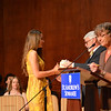 """The Class of 2013 was inducted into the Alumni Association with the annual """"Mugging"""". Newly elected Alumni Council president Doug Cameron SMA '65 and Alumni Director Lizzie Duncan STA '76 spoke."""