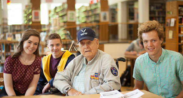 Visit of Durward Swanson, Pearl Harbor survivor 2016