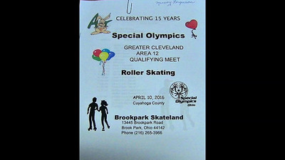 VIDEO:  20 minutes - Special Olympics Greater Cleveland Area 12 Qualifying Meet, April 10, 2016.  Click on image above and then on triangle and video will play.