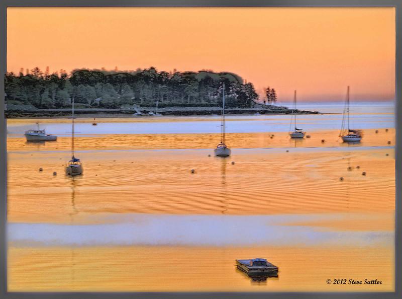 Acadia - Sunrise at Southwest Harbor