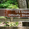 The sign I should have read before starting up the steps.